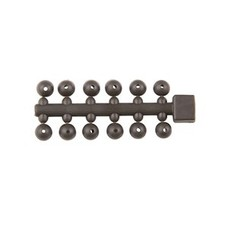 MAD tapered beads | brown | 24pcs