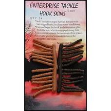 Enterprise tackle hook skins | 24 pcs | imitation larvae