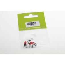JTB feeder beads rood/zwart | 3 st