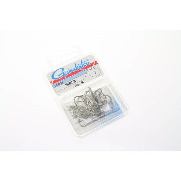 Gamakatsu trebble 14 | maat 1 | 10 st | treble haken