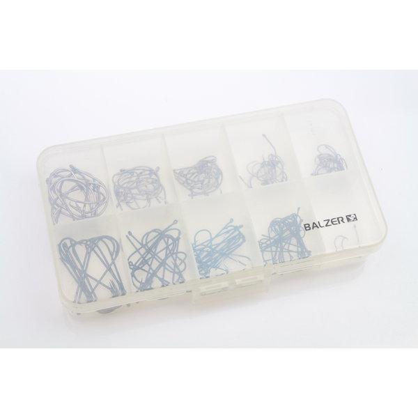 Balzer tacklebox gevuld met bindhaken | 100 st