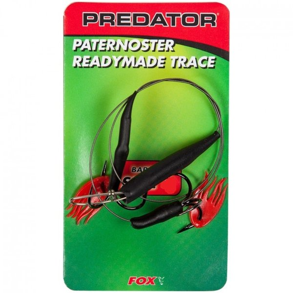 Fox predator paternoster readymade trace | barbed | size 8 | deadbait rig