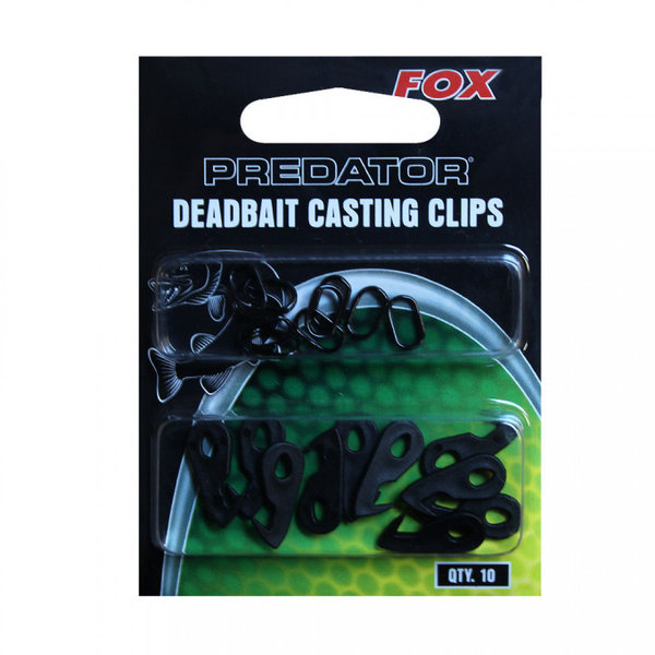 Fox predator deadbait casting clips   10 pcs