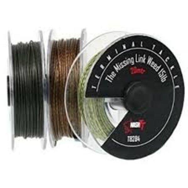 Nash  TT missing link gravel | 35 LB - 20 M | braided hooklink