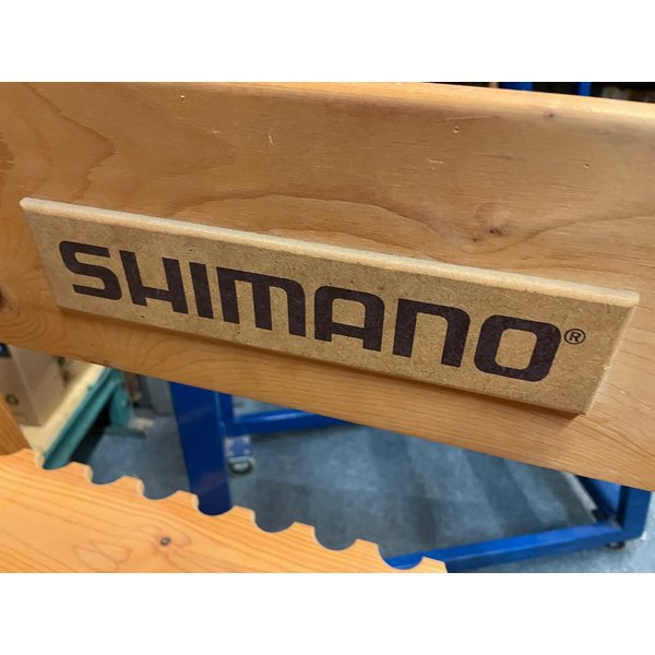 Shimano rod rack wood for 26 rods