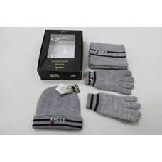 Eiger gift set grijs handschoenen, sjaal en muts maat S-M