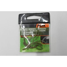 Fox camo green/brown/withy/curve shank adaptor fits | 10 st