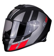 Scorpion EXO-R1 AIR CORPUS Matt Black-Silver-Red XS