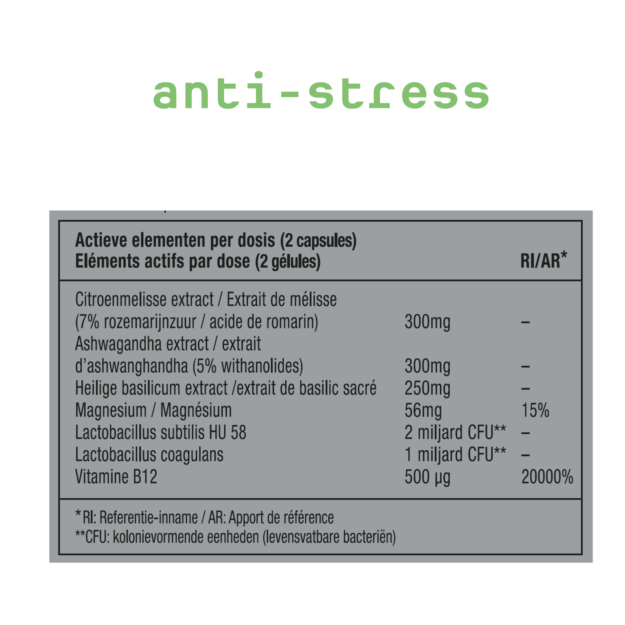 METIS Anti Stress 03 - supplement tegen stress
