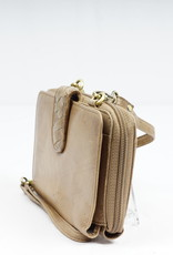 Bizzoo Bizzoo ladies wallet with long shoulder strap taupe