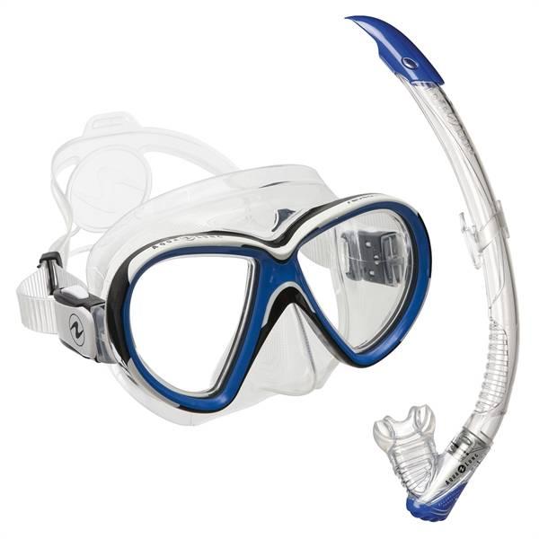 c319a8454d5263 Snorkelset Aqualung Reveal X2 blauw, duikbril met snorkel - DE ...