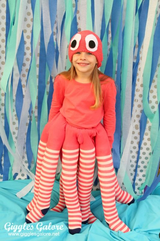 inktvis kostuum zeethema halloween carnaval