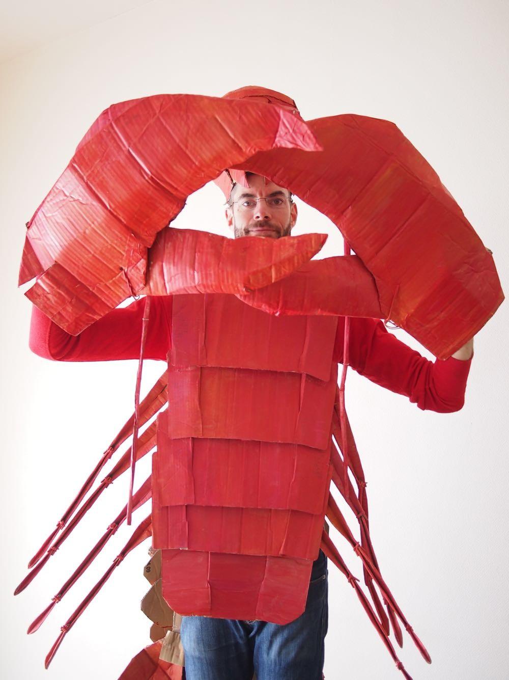kostuum kreeft verkleden halloween carnaval