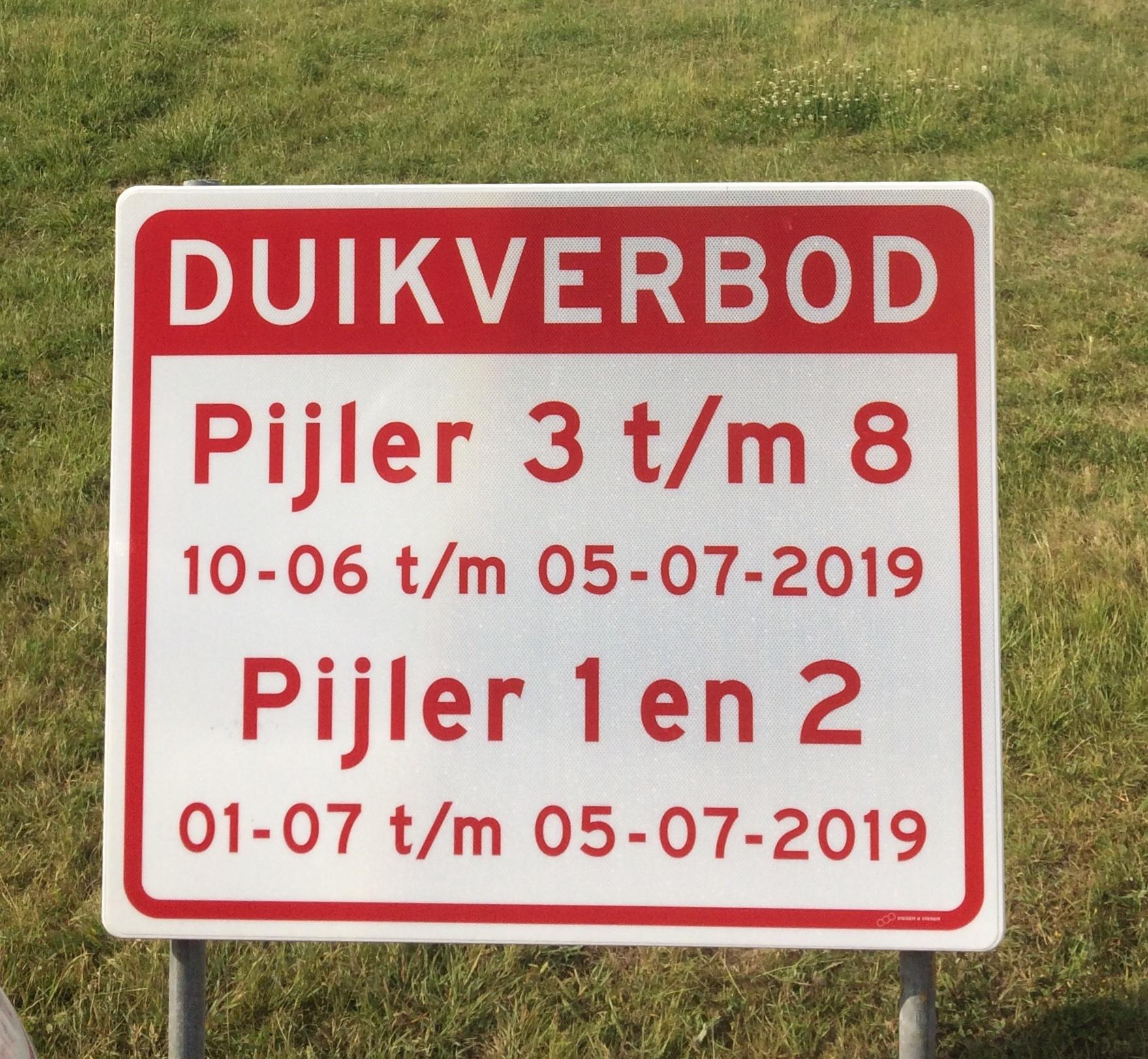 Duikverboden Zeeland juli 2019