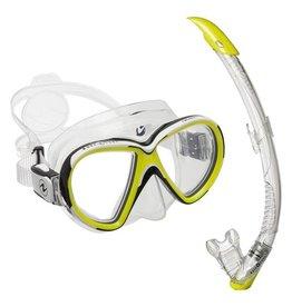 Aqualung Snorkelset Aqualung Reveal X2 geel