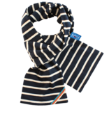 BretonStripe BretonStripe kinder sjaal Navy-Naturel