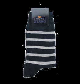BretonStripe BretonStripe sokken Navy-Naturel