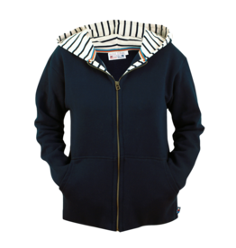 BretonStripe BretonStripe hooded vest Navy
