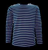 BretonStripe Shirt lange mouwen Navy-Naturel