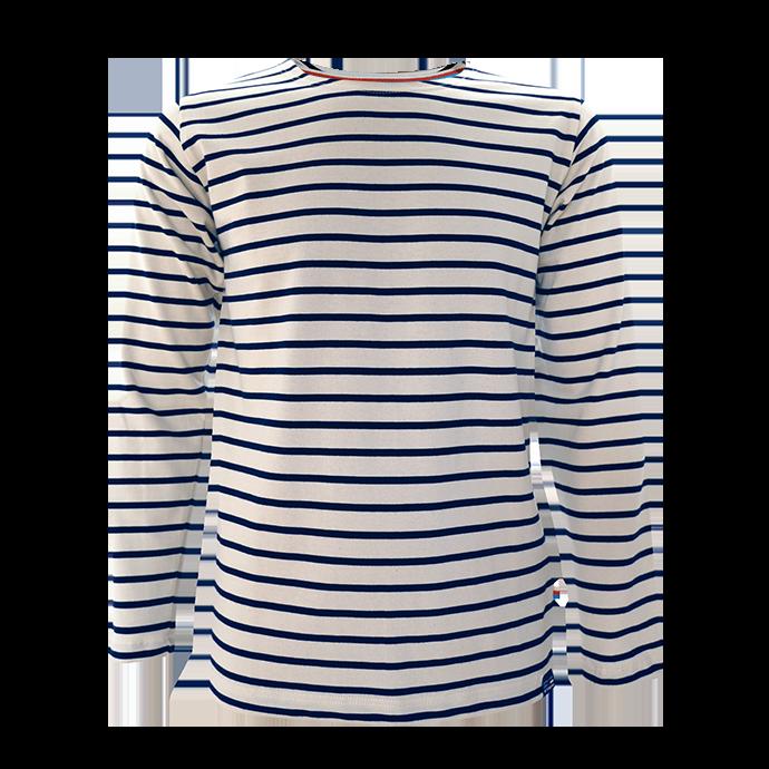 BretonStripe Shirt lange mouwen Naturel-Navy