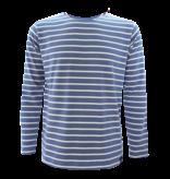 BretonStripe Shirt lange mouwen Jeans-Naturel