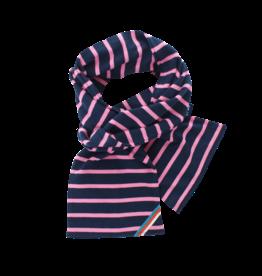 BretonStripe BretonStripe sjaal Navy-Fuchsia