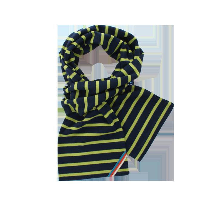 BretonStripe BretonStripe sjaal Navy-Lime