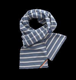 BretonStripe BretonStripe sjaal Jeans-Naturel