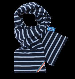 BretonStripe BretonStripe kinder sjaal Navy-Sky Blue