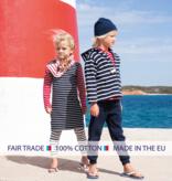 BretonStripe BretonStripe kinder sjaal Navy-Fuchsia