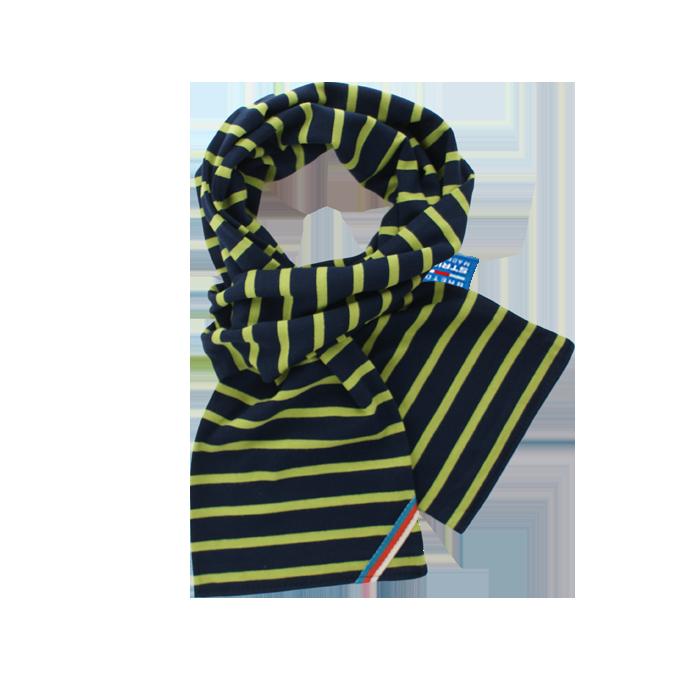 BretonStripe BretonStripe kinder sjaal Navy-Lime