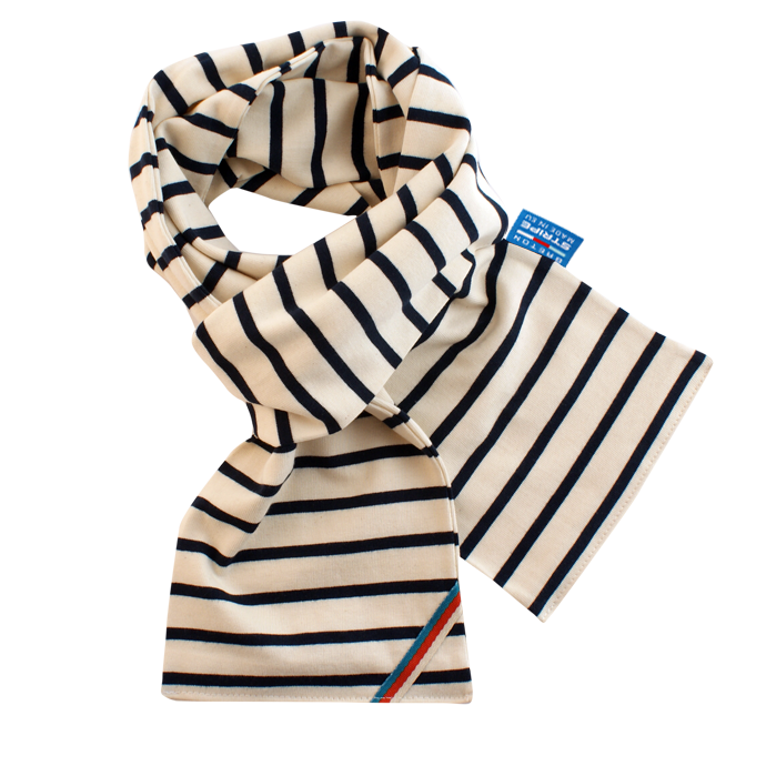BretonStripe BretonStripe kinder sjaal Naturel-Navy
