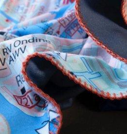 Fleecedeken waterkaart Grevelingenmeer