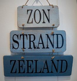 Tekstbord strand Zeeland