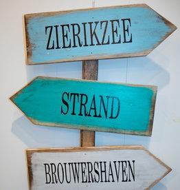 Tekstbord Zierikzee Brouwershaven