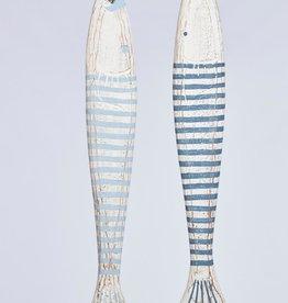 Dijk Naturel Collections Houten vis 78 cm blauw