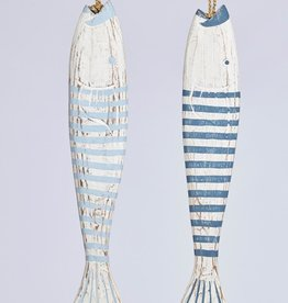 Dijk Naturel Collections Houten vis 58 cm blauw