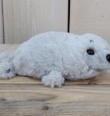 Knuffel zeehond grijs 28 cm