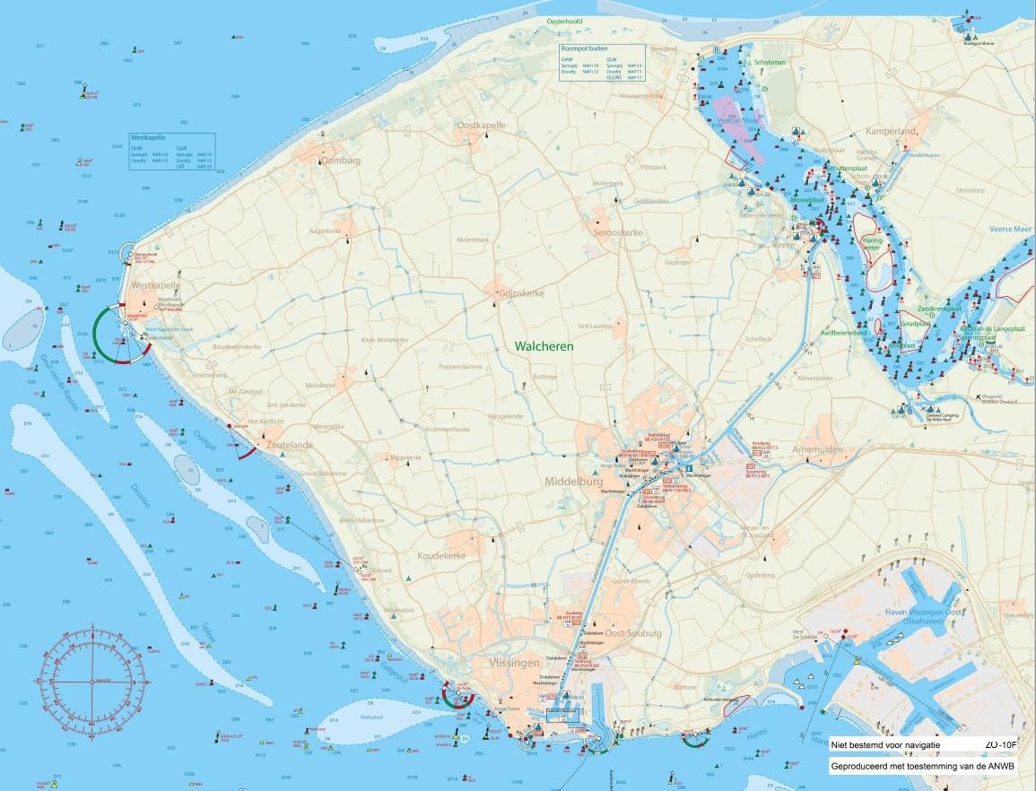 Fleecedeken waterkaart Zoutelande