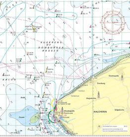 Kaartkussen waterkaart Westkapelle