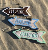Bord pijl Zeeland naturel