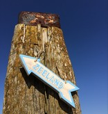 Bord pijl Zeeland lichtblauw