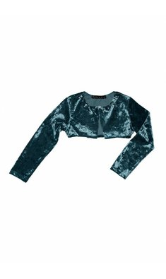 Kate Mack/Biscotti grand entrance cardigan velvet blue