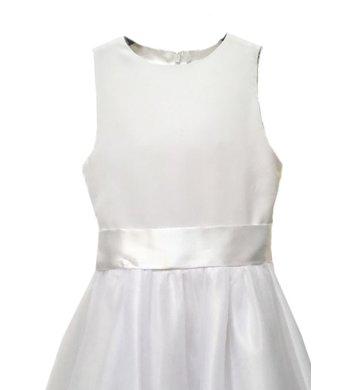 Meisjesfeest sash taillestrik white