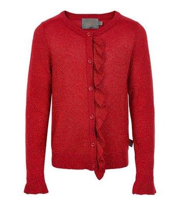Creamie Cardigan Frill Crimson