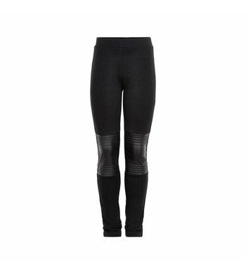 Creamie Leggings PU Detail Black