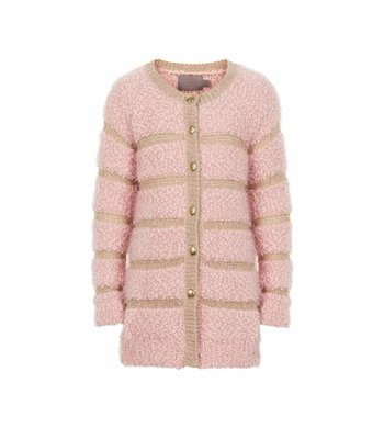 Creamie Cardigan Fluffy Rose Smoke