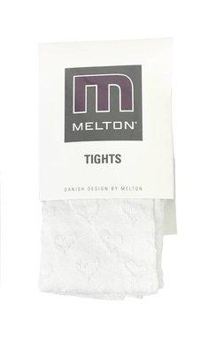 Melton Basic maillot met ingebreid hartje white