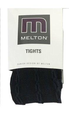 Melton Maillot maillot met kabelpatroon donkerblauw