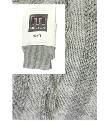 Melton Maillot maillot met kabelpatroon light grey melange